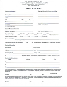 printable credit application form for businesses application form template printable credit application form for businesses - Credit Application Forms