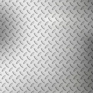 Diamond stamped stainless steel